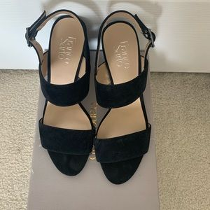 Black strappy heals (only worn once) size 8.5